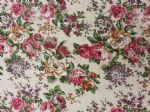 VINTAGE FLORAL CREAM - Fabric- 100% COTTON - Price Per Metre
